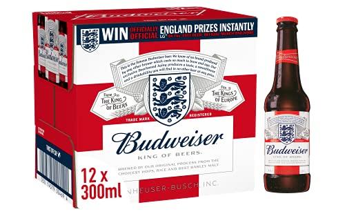 Budweiser Beer 12 x 300ml - £9 (+£4.49 Non-Prime / £7.45 S&S) @ Amazon