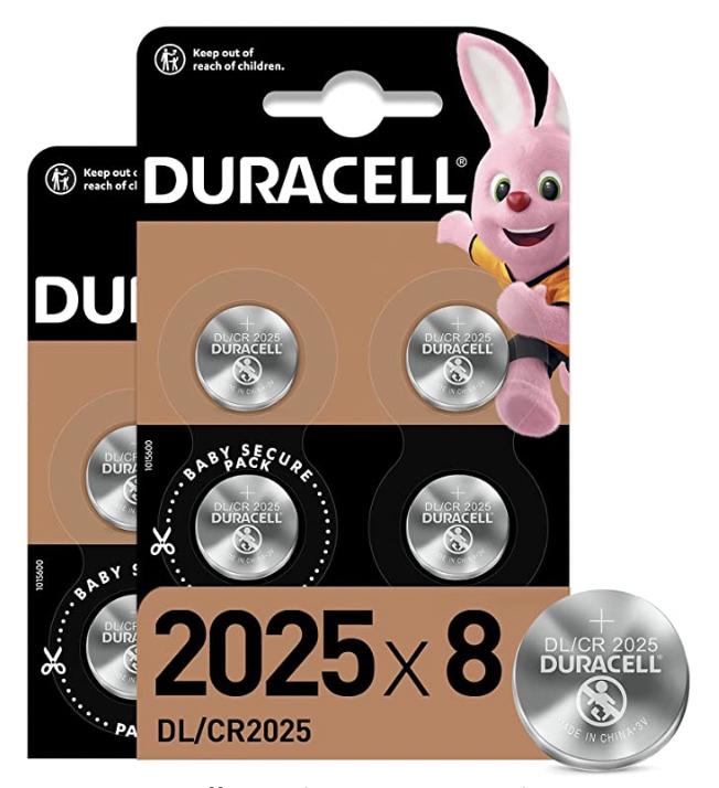 CR2025 Duracell Coin Batteries - £4.41 (+£4.49 Non-Prime) @ Amazon