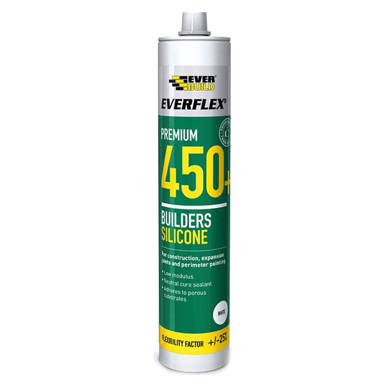 Everbuild Everflex 450 Premium+ Builders Silicone Sealant, Transparent, 300 ml - £2.50 (+£4.49 Non-Prime) @ Amazon