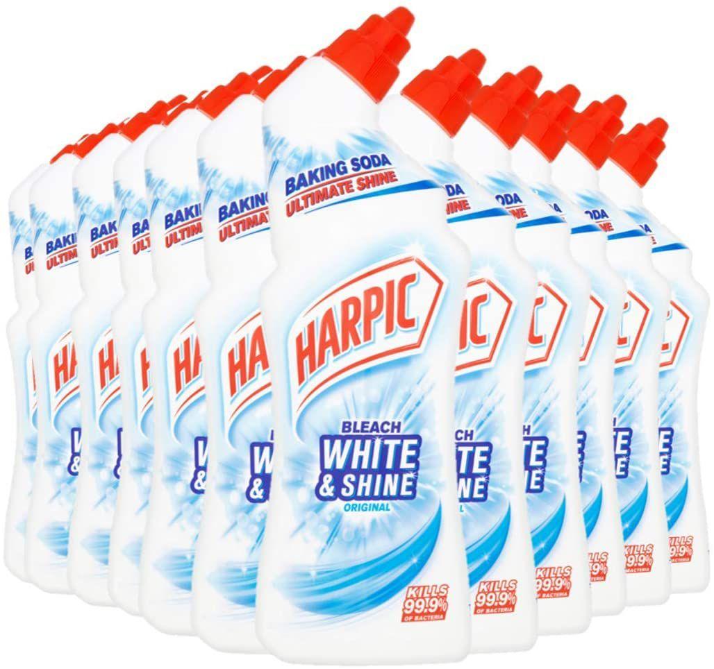 Harpic Toilet Cleaner Bleach White & Shine, ORIGINAL, Multipack of 12 x 750 ml £12 @ Amazon (£4.49 p&p non prime) 15% voucher & 10 % s&s £9