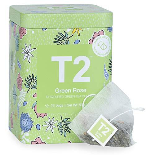 T2 Green Rose Icon Tin with 25 Tea Bags, Enjoy Hot or Iced - £3.19 (+£4.49 Non-Prime) @ Amazon