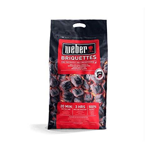 Weber 1759180 Briquettes 8kg, Black £11.58 Prime (+£4.49 NP) Delivered (UK Mainland Only) Sold by Amazon EU @ Amazon