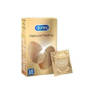 Durex Natural Feeling Condoms, Latex-Free Condoms for a Natural Skin-on-Skin Feel, Pack of 16 - £3.67 (+£4.49 Non-Prime) @ Amazon