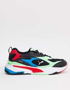 Puma RS-Fast trainers in black and green - £32.50 + £4 Delivery @ ASOS