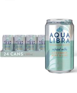 Aqua Libra Sparkling Water, Sugar Free Fruit Water - cucumber, mint and lime - 24 x 330ml only £11.96 (+£4.49 non-prime) @ Amazon