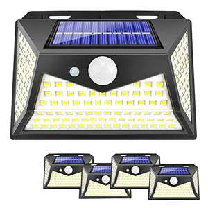 Solar Lights Outdoor, 100 Led Motion Sensor Security Light (4 Pack) £16.14 (+£4.49 non-prime) - Sold by UPBRI and Fulfilled by Amazon.