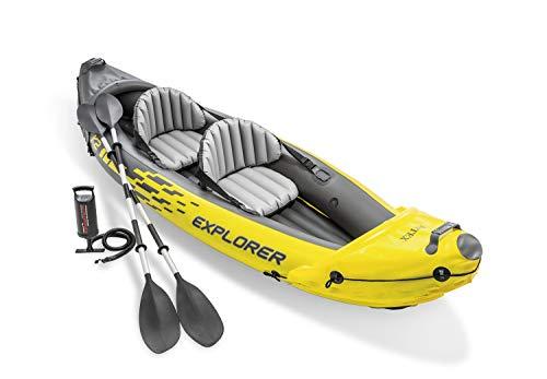 Intex Explorer K2 Kayak, 2-Person Inflatable Kayak Set with Aluminum Oars and High Output Air Pump - £105.91 @ Amazon