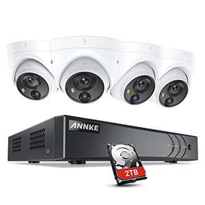 ANNKE PIR CCTV Camera System, 8 Channel 4K/8MP DVR with 2TB and 4pcs 5MP Outdoor Cameras £199 Delivered @ Amazon / Smart Home Brand Store