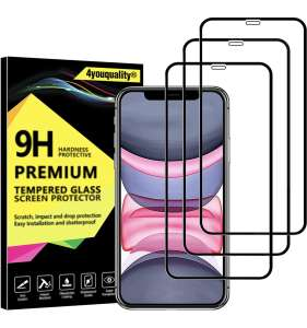3-Pack iPhone 11 & XR Protector, Tempered Glass Film Screen Protector £4.99 Prime (+£4.49 NP) Sold by 4youquality & Fulfilled by Amazon