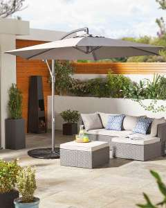 Cantilever Parasol (Anthracite or Cream) - Instore £44.99 (From 1st July) @ Aldi