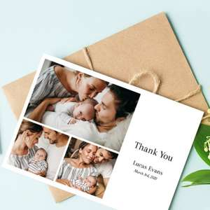 Personalised Photo Card from 25p including postage with code (via App) @ Optimalprint