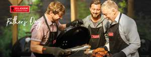Buy Your DAD A Grill Weber Academy Course & You Attend For Free Courses Start From £90 Locations Nationwide with code @ Weber