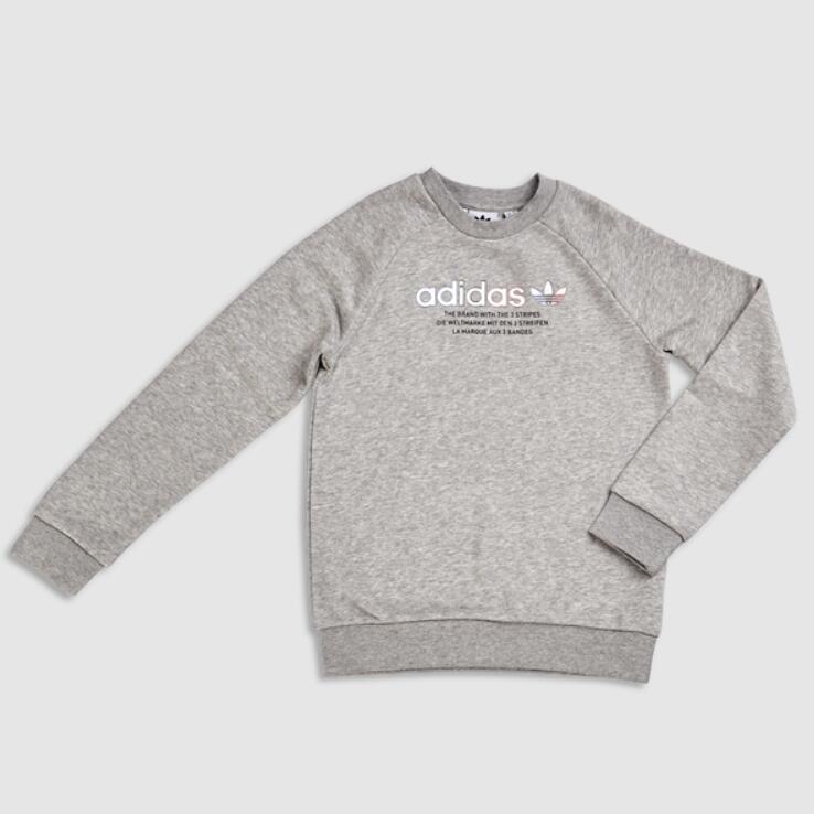 adidas Tricolor Youth Sweatshirt in Grey £14.99 + Free delivery (FLX Members) @ Foot Locker
