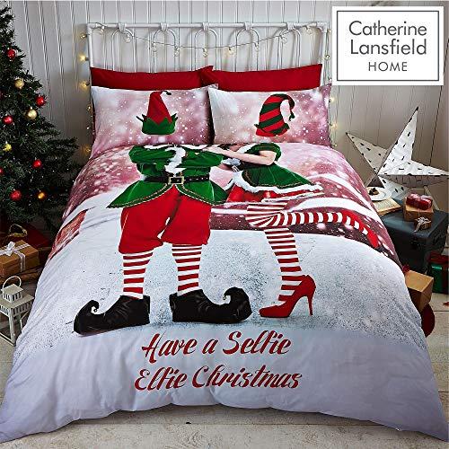 Catherine Lansfield Selfie Elfie Easy Care Single Duvet Set £3.37 (+£4.49 Non Prime) at Amazon