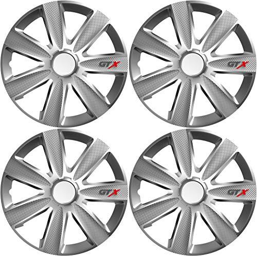 Versaco Car Wheel Trims GTXCARBON16 - Silver 16 Inch 7-Spoke - Boxed Set of 4 Hubcaps £17.51 (+£4.49 Non Prime) at Amazon