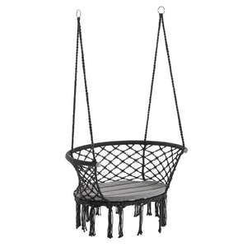 Outsunny Hanging Hammock Chair Macrame Seat for Patio Garden Dark Grey £31.99 delivered @ MHStar UK / Onbuy