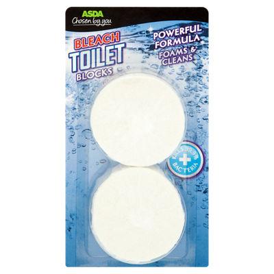 Asda Toilet bleach blocks 2pk - 10p instore at Asda (Barry)