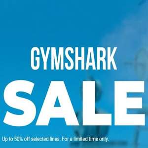 Up to 50% off sale (Selected Lines) - Extra 10% off if you have Blue Light Card @ Gymshark
