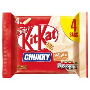 White chocolate kitkat chunky 4 pack Now £1 in Sainsburys