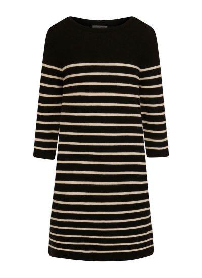 Blair Breton stripe jumper dress - Black Medium £13.95 delivered at Joanie Clothing