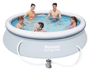 Bestway 10ft Quick Up Round Family Pool with Filter Pump and Cover - 3638L - £60 Click & Collect / £63.95 delivered @ Argos