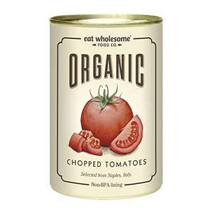 Eat Wholesome Organic Chopped Tomatoes 400g (Pack of 12) £6.44 / £6.12 S&S (Prime) + £4.49 (non Prime) at Amazon