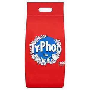 TYPHOO TEA 1100 one cup Teabags £7.75 / £7.36 S&S (Prime) + £4.49 (non Prime) at Amazon