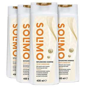 Amazon Brand - Solimo Replenishing Shampoo For Dry & Damaged Hair with Keratin Pack of 4 £2.93 (Prime) + £4.49 (non Prime) at Amazon