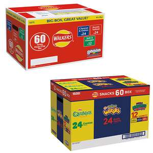Walkers Variety Box (60 x 25g) or Walkers Snack Variety Box (60 x 25g) - £5.98 (in-store) (Membership Required) @ Costco