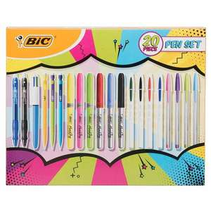 BiC 20 Piece Assorted Pen Set , Now £7.99 (+ Free Click & Collect / Free Delivery Over £20 ) @ WH Smith