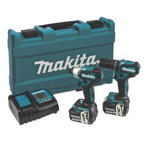 Makita DLX2221ST 18V 5.0AH LI-ION LXT Brushless Cordless Twin Pack - combi drill and impact driver £239.99 @ Screwfix