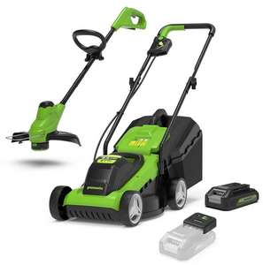 Greenworks 24v Cordless Lawnmower & Grass Trimmer Kit with 2Ah Battery & Charger £129.99 Robert Dyas (UK Mainland)