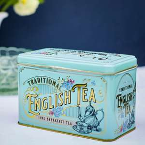 Vintage Victorian Tea Tin With 40 English Breakfast Teabags for £2 (free click & collect) @ Ryman