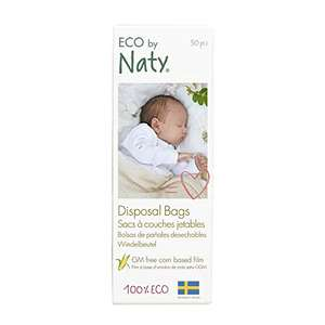 Eco by Naty, Ecological Disposal Bags, Pack of 50 pieces, 100% Compostable £1.89 (Prime) + £4.49 (non Prime) at Amazon