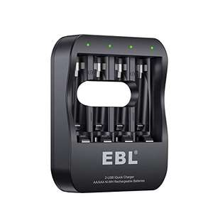 EBL AA / AAA battery charger with USB-C and Micro USB £6.29 (+£4.49 non-prime) - Sold by EBL Official and Fulfilled by Amazon