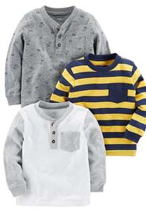 Simple Joys by Carter's Baby Boy's Long Sleeve T-Shirt, Pack of 3 - Age 5 £10.18 (+£4.49 non-prime) @ Amazon