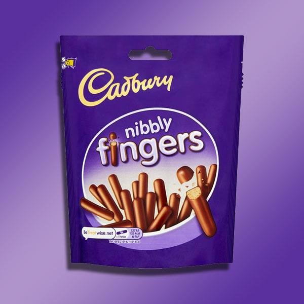 2 x Cadbury Nibbly Fingers Mini Milk Chocolate Biscuits 125g Packs £1 (BB End July 2021) @ Yankee Bundles