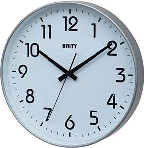 Unity Fradley 30cm 12-Inch Silent Sweep Modern Wall Clock £7.32 (Prime) + £4.49 (non Prime) at Amazon