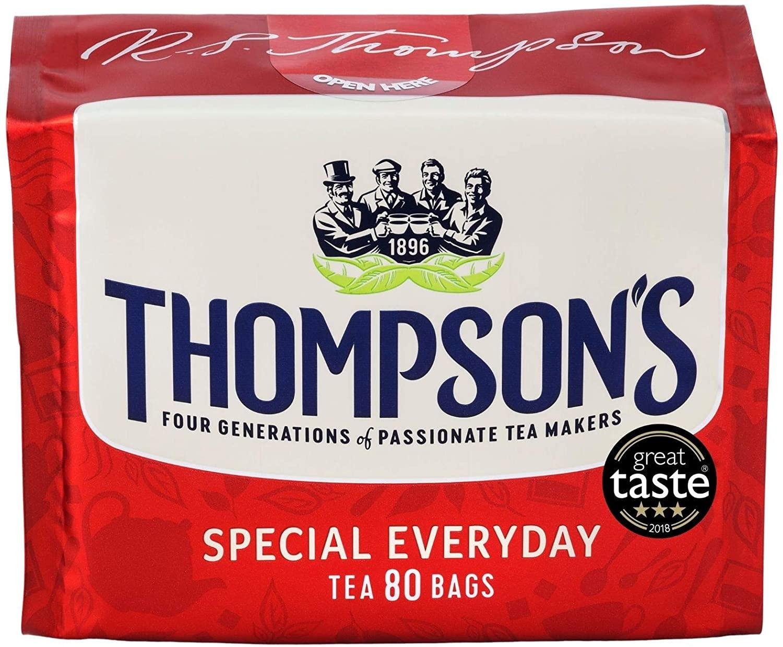 Thompson's Special Everyday 80 Tea Bags, 250g - £1.50 (+£4.49 non prime) @ Amazon