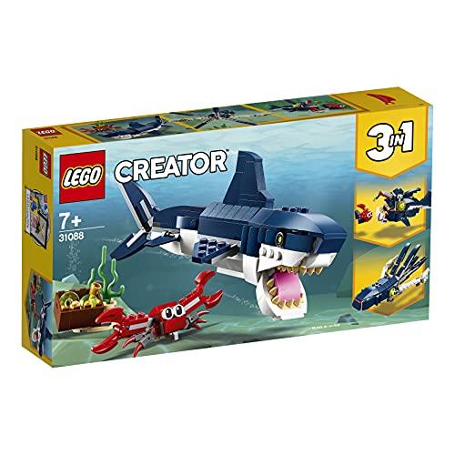 LEGO 31088 Creator Deep Sea Creatures: Shark, Crab and Squid or Angler Fish £7.98 Prime +£4.49 non Prime at Amazon
