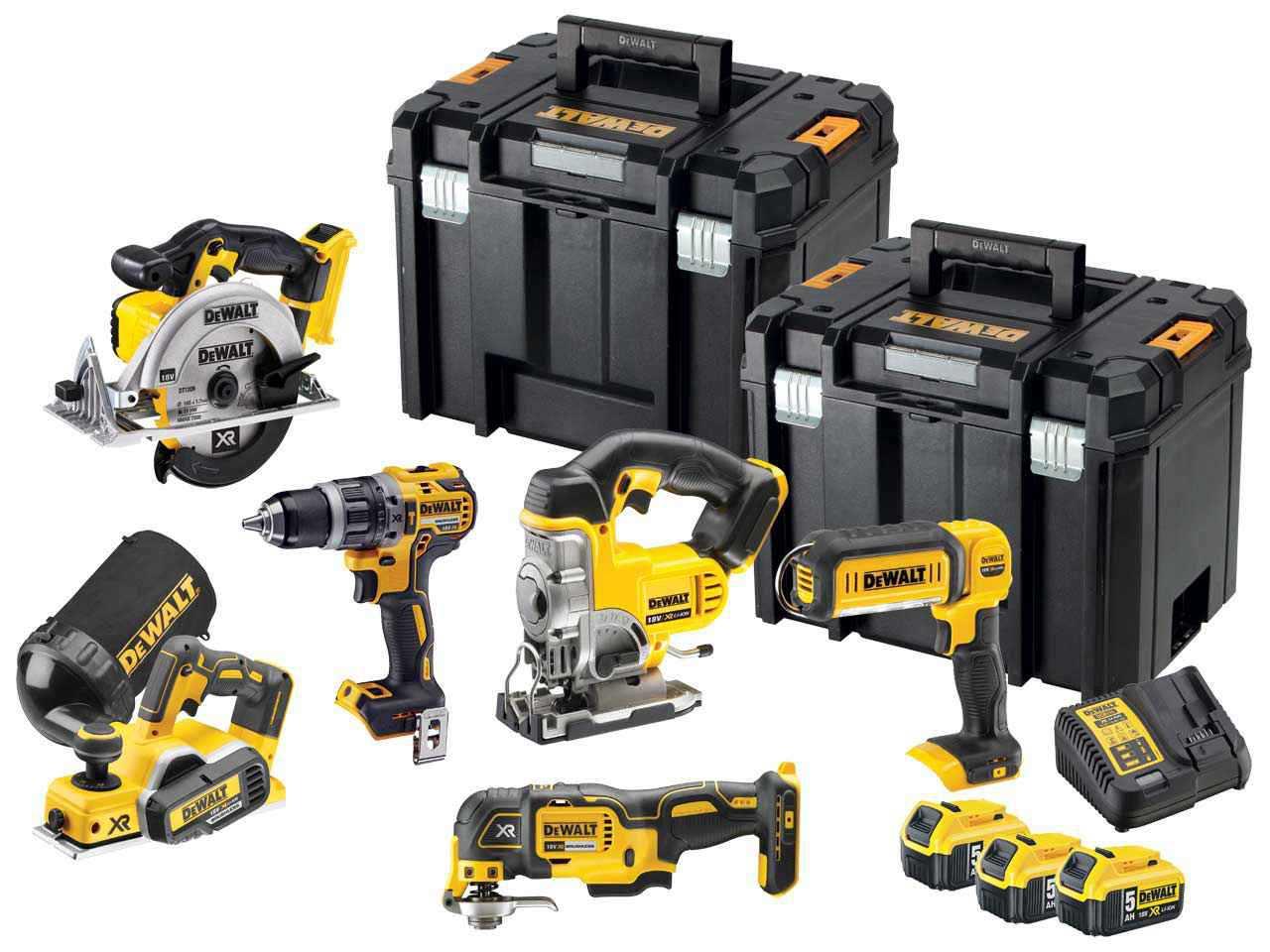 DeWalt 18V Li-ion 6 Piece Kit - DCK665P3T-GB + 3x5.0Ah Batteries £785 @ FFX