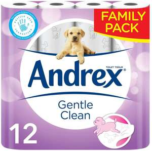 Andrex Gentle Clean 12 Roll Packs are £3.99 @ Jack Fultons Halifax
