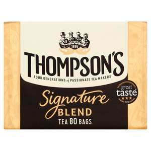 Thompson's Signature Tea Bags 80S just £2 using your Clubcard (usually £3) Tesco