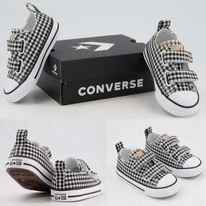 Converse All Star 2vlace Infant Gingham Trainers £20 click & collect @ Office Shoes