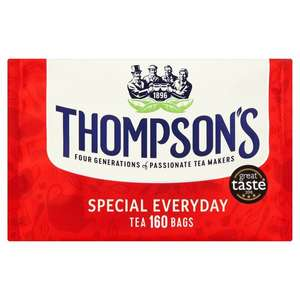 Thompson's Special Everyday 160 Tea Bags - £3 using your Tesco Clubcard (usually £4.50)