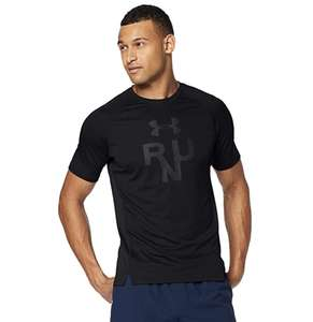 Under Armour Men's Qualifier Glare Short-Sleeve Shirt - Black XL - £8.82 - (+£4.49 Non-Prime) @ Amazon