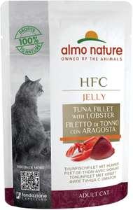 Almo Nature HFC Cuisine Wet Cat Food Pouch - Tuna Fillet & Lobster (Pack of 24 x55g) - £11.73 Prime / +£4.49 non Prime @ Amazon