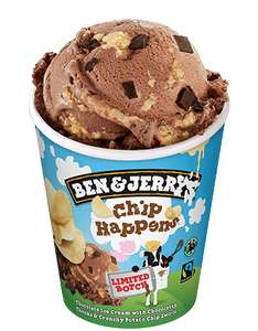 Ben & Jerry's Chip Happens (flavours may vary by branch) 500ml icecream now £1 instore at Farmfoods, Staines