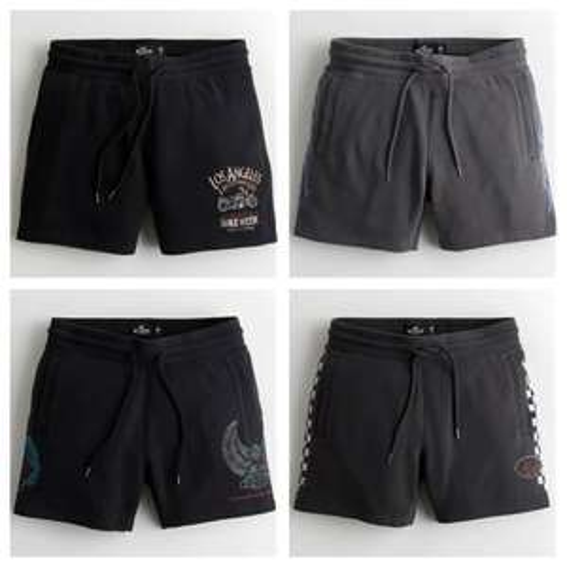 Fleece Jogger Shorts (4 Designs S - XL) £8.79 & £9.59 - Free Delivery via App @ Hollister