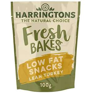 Harringtons Fresh Lean Turkey Low Fat Dog Snacks 100g, pack of 7 £5.59 + £4.49 NP or £3.29 with s&s and 20% voucher @ Amazon